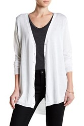 Joseph A Hi Lo Button Front Cardigan White