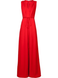 Adam By Adam Lippes Wide Leg Jumpsuit Red