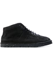 Marsell Lace Up Ankle Boots Men Leather Suede Rubber 42 Black