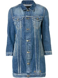 R 13 R13 Long Denim Jacket Blue