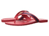 Tory Burch Maritime Thong Nantucket Red Navy Women's Sandals Pink