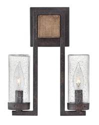 Hinkley Sawyer 2 Light Outdoor Wall Sconce Black