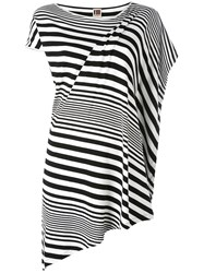 I'm Isola Marras Striped Asymmetric T Shirt Black