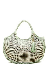 Sondra Roberts Lattice Woven Hobo Bag Multi