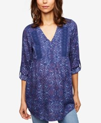 A Pea In The Pod Luxe Essentials Maternity Peasant Tunic Paisley Print