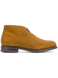 Church's Desert Boots Men Leather Calf Suede Rubber 11 Brown