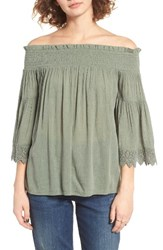 Sun And Shadow Women's Off The Shoulder Blouse