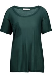 Kain Label Modal And Silk Blend T Shirt Emerald