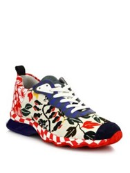 Fendi Hypno Ffast Printed Sneakers Floral