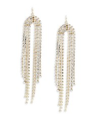 Trina Turk Faceted Crystal Rainbow Linear Drop Earrings Gold