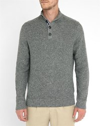Tommy Hilfiger Charcoal Zip Neck Sweater Grey