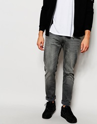 Lee Jeans Luke Stretch Skinny Fit Black Lead Washed Out Blacklead