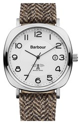 Men's Barbour 'Heritage' Strap Watch 42Mm