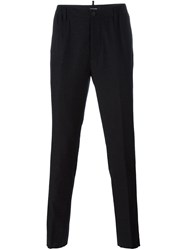 Dsquared2 Striped Slim Trousers Blue