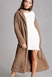 Forever 21 Fuzzy Faux Fur Coat