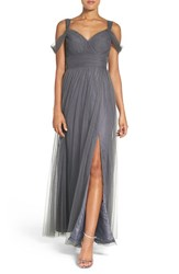 Watters Women's 'Gladiola' Off The Shoulder Tulle A Line Gown