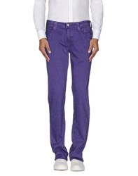 Carlo Chionna Trousers Casual Trousers Men Purple