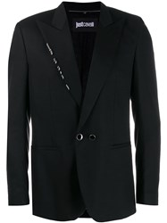 Just Cavalli Metal Hoop Detail Blazer Black