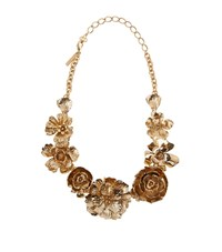 Oscar De La Renta Bold Flower Necklace Female Gold
