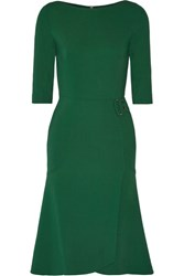 Roland Mouret Healey Stretch Cady Dress Forest Green