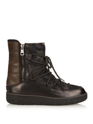 Moncler Feldberg Leather And Nylon Boots