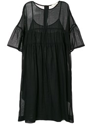 Odeeh Flared T Shirt Dress Black