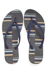 Reef Women's Escape Flip Flop Grey Stripe