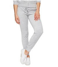 Juicy Couture Zuma Velour Pants Silver Lining Women's Casual Pants Gray