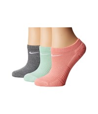 Nike Cotton Cushioned No Show 3 Pair Pack Multicolor Women's No Show Socks Shoes