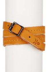 Frye Campus Wrap Leather Cuff Orange