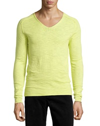 Antony Morato Exposed Seam V Neck Sweater Giallo Lime