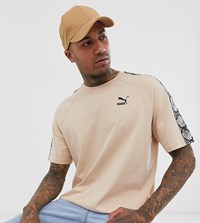 Puma T Shirt With Snake Print Taping In Beige Exclusive At Asos