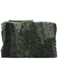 Mr And Mrs Italy Patchwork Clutch Green