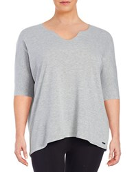 Marc New York Cotton Blend Top Grey