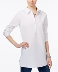 Tommy Hilfiger Tunic Shirt Only At Macy's White
