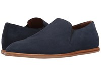 Aquatalia By Marvin K Irwin Navy Dress Suede Men's Slip On Shoes Blue