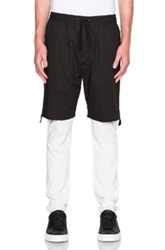3.1 Phillip Lim Hybrid Lounge Pants With Poplin Shorts In Black White