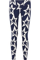 Perfect Moment Star Light Printed Stretch Leggings Storm Blue
