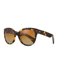Oliver Peoples Abrie Plastic Cat Eye Sunglasses Tortoise
