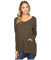 Culture Phit Cheyenne One Pocket Sweater Olive Women's Sweater