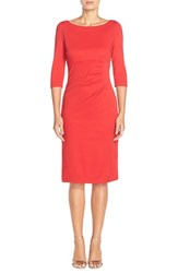 Women's Donna Ricco Ponte Midi Dress Red