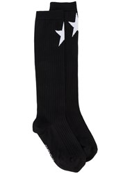 Givenchy Jacquard Star Knitted Socks Women Polyamide Wool M Black