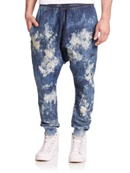 Prps Halley Bleached Denim Sweatpants Enzyme Blue