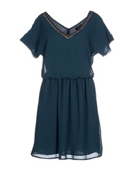 Duck Farm Short Dresses Deep Jade