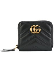 Gucci Gg Marmont Matelasse Wallet Women Leather One Size Black