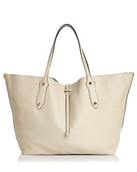Annabel Ingall Isabella Large Leather Tote Pebble Gray Gold