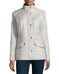 Barbour Cavalry Polar Long Sleeve Snap Front Quilted Jacket Pearl Pearl Rustic