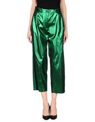 Mauro Grifoni Trousers Casual Trousers Women Emerald Green