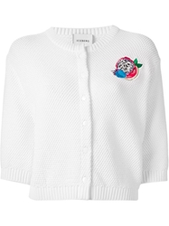 Iceberg Embroidered Chunky Knit Cardigan White