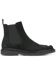 Neil Barrett Cut Out Vamp Chelsea Boots Black